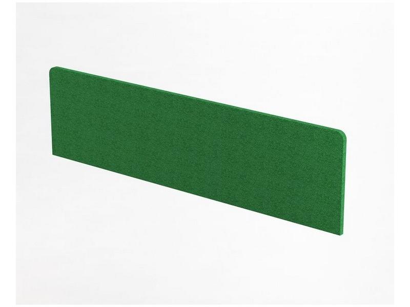 Перегородка настольная с тканью 1380 х 370Н - Фото